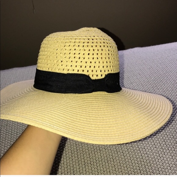 da843917e2a707 august t Accessories | Beige Black Floppy Hat 54cm | Poshmark
